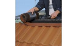 Closoir de ventilation souple DELTA-ECO ROLL 240 mm rouge 5 m