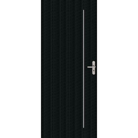 Portes LINE avec inserts en aluminium brossé