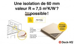 Deck-VQ®, le panneau d'isolation sous vide d'air ultra-mince pour toitures plates et terrasses
