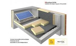 Eurothane Br-Bio®, le panneau support d'étanchéité sous protection lourde pour terrasses béton ou bois