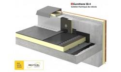 Eurothane® Bi-4, le panneau support d'étanchéité bitume apparente, sous protection lourde ou collée à froid
