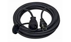 Brennenstuhl Rallonge électrique 10m de câble H07RN-F 3G2,5 avec prise à clapet (IP44), Fabrication Française