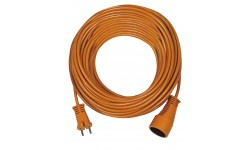Brennenstuhl Rallonge orange 20m de câble, Fabrication Française