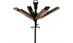 Brennenstuhl professionalLINE Projecteur LED R17000 portable 360°, 10m de câble (IP65, 17000 lumen)