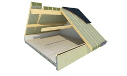 Usystem Roof DS Mineral Wool : le panneau sandwich chevronné avec laine de roche spécial ERP