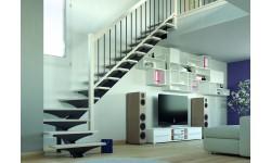 Escalier STYLE à LIMONS CENTRAUX